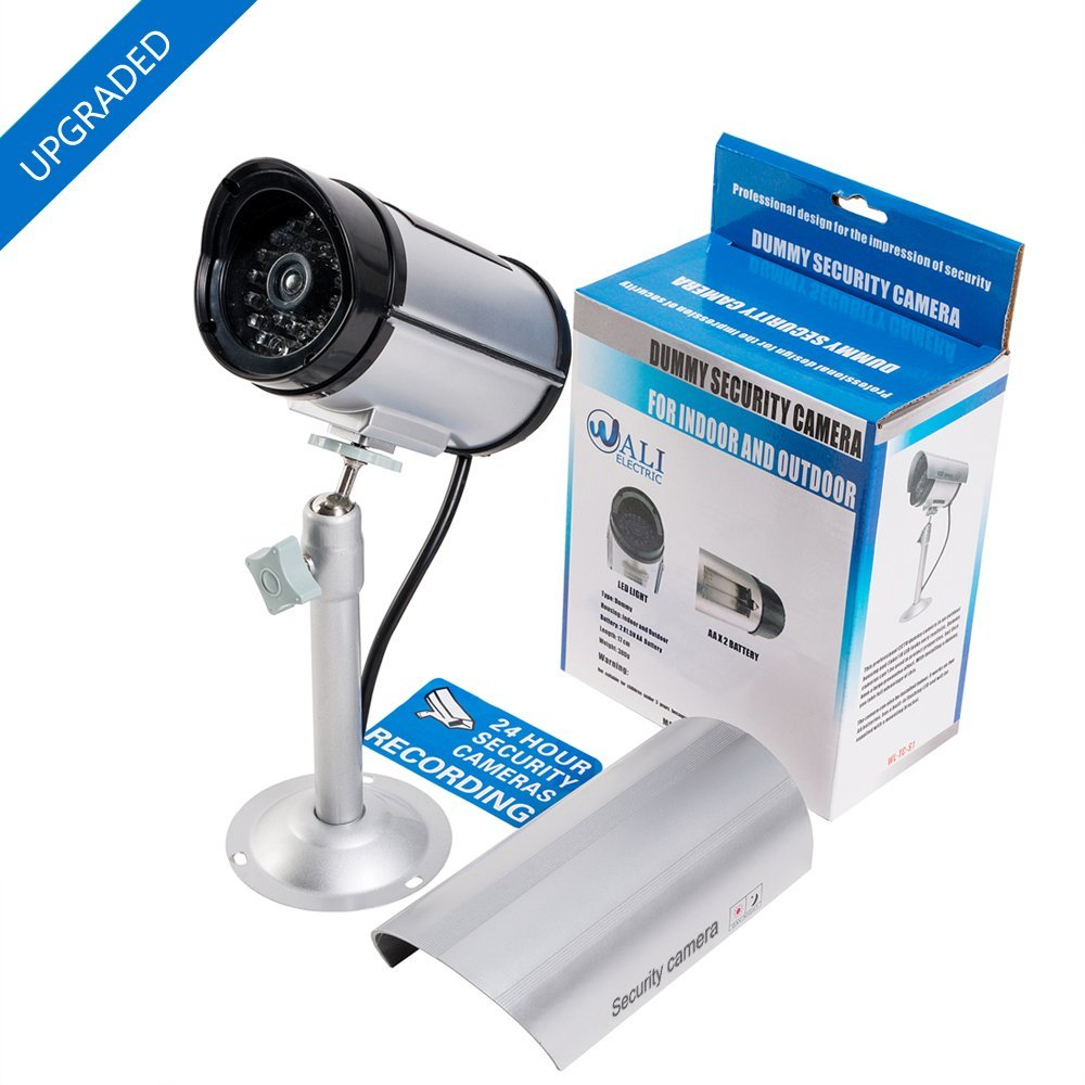 Amazon.com : WALI Bullet Dummy Fake Surveillance Security CCTV ...
