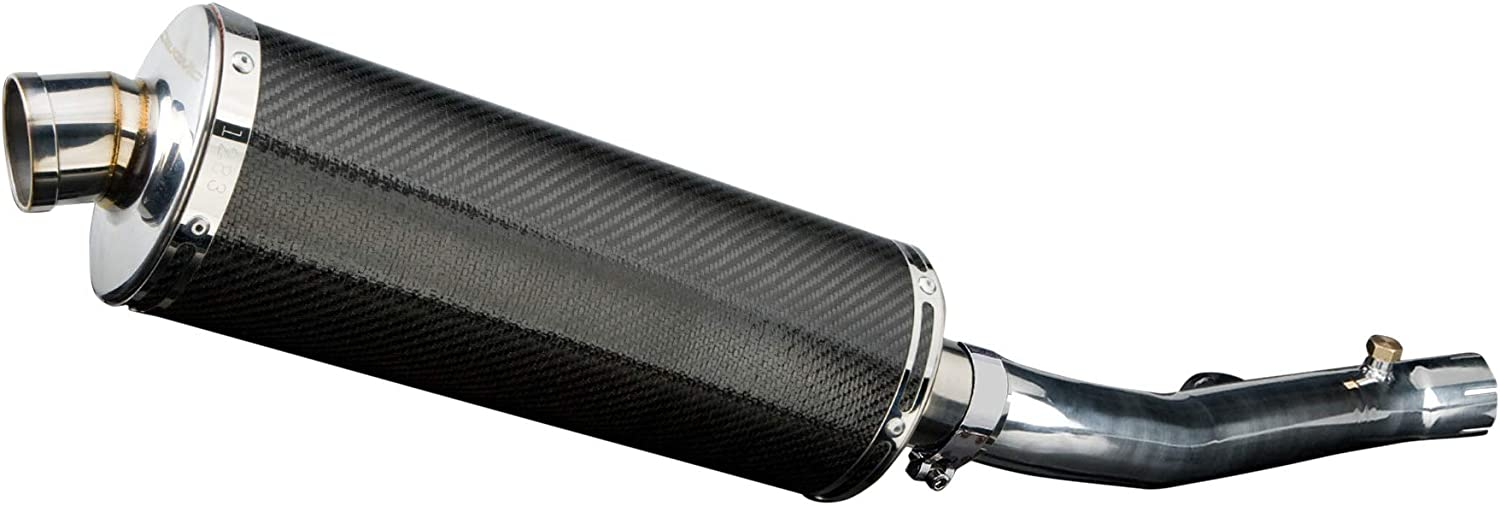 with 18 Stainless Steel Oval Muffler 2001-2006 Delkevic Aftermarket Slip On compatible with Honda CBR600 F4i