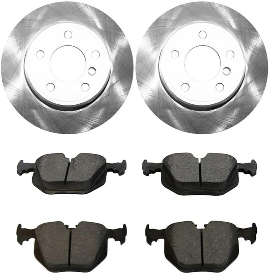 Auto Shack CBO44182683CX5 Rear Brake Rotors and Ceramic Pads