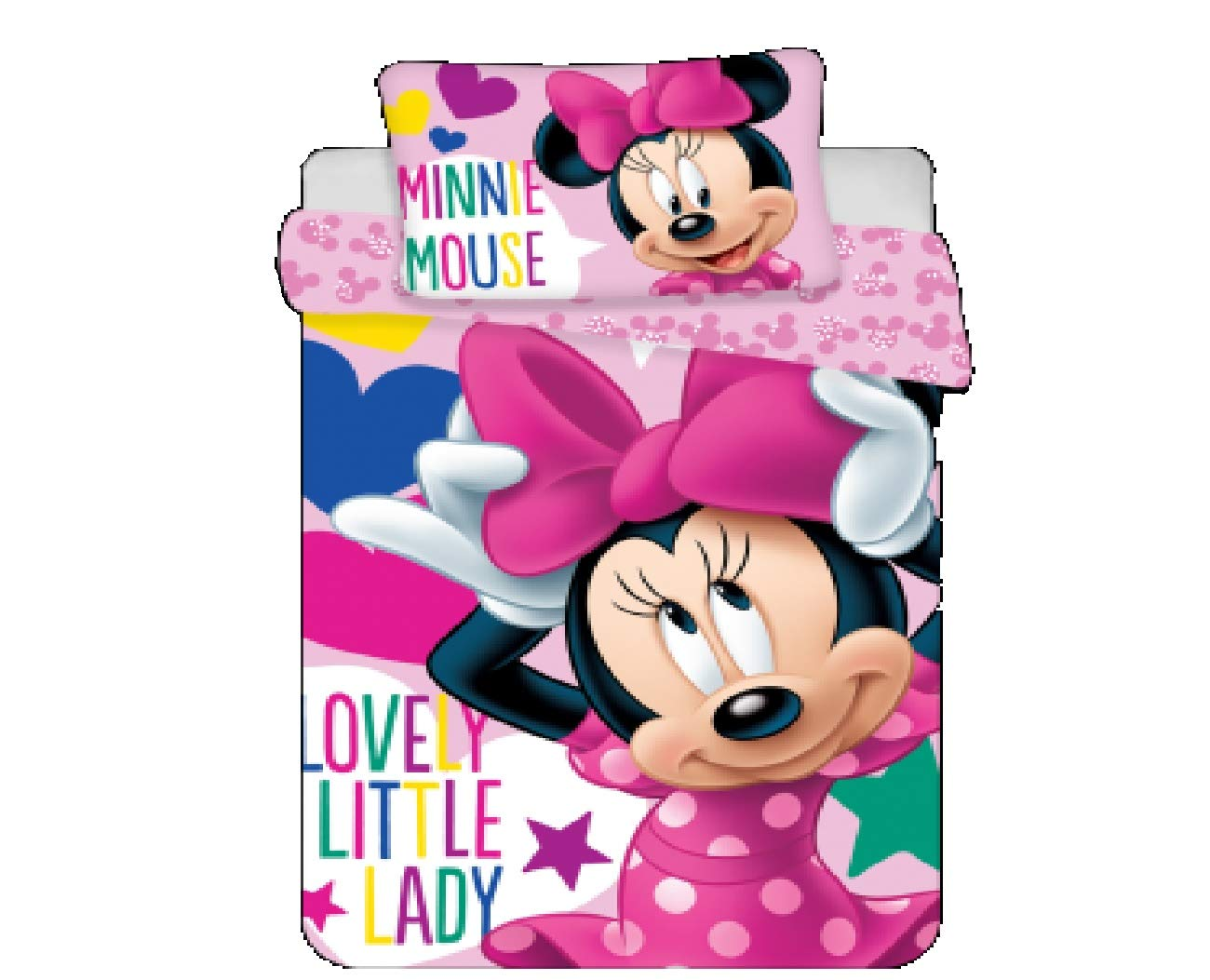 Jerry Fabrics Bettwä sche-Set 100x135 + 40x60cm Minnie Baby 8592753014547