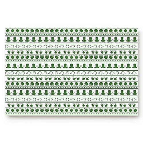 (St. Patrick's Day Theme 23.6 x 15.7inch Doormat Water Absorbent Non-Slip Entrance Shoes Scraper Rug Indoor Kitchen Dining Living Hallway Bathroom Pet Mats)