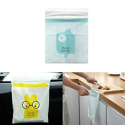 PME PIVOFUL MOBILE ENHANCEMENT 30pcs Car Trash Bag, Biodegradable & Compostable Garbage Bag Rubbish Bin Bag Car Trash Bin Gag Disposable Container Bag for Office Babyroom Bathroom Study Room -Blue: Automotive