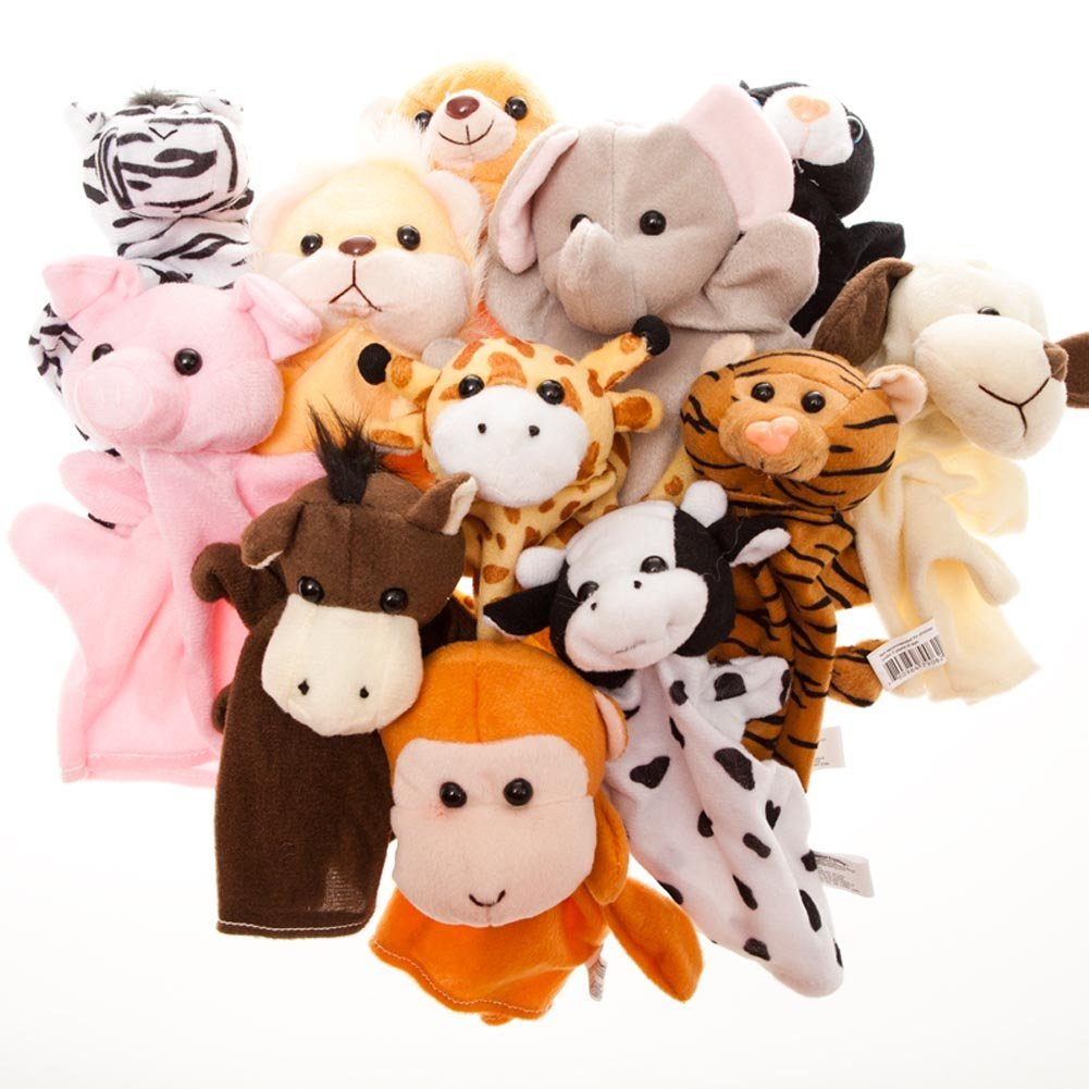 puppets for preschoolers to make dozen velour animal puppet set kid preschool 39004