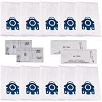 I-clean For Miele Replacements AirClean 3D Efficiency Dust Bags 10 Packs,Type GN 10123210 GN Vacuum Bags With 2 motor protection filter 2 AirClean Filter,Miele Attachments Parts Tools