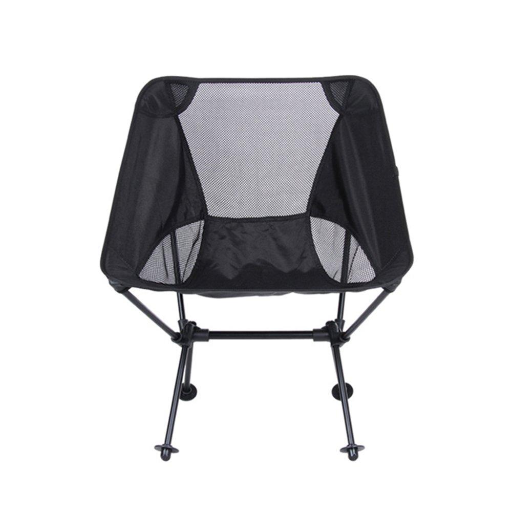 WINOMOポータブル折りたたみ椅子アウトドアキャンプハイキングピクニック釣り B073VFL2KX  ブラック