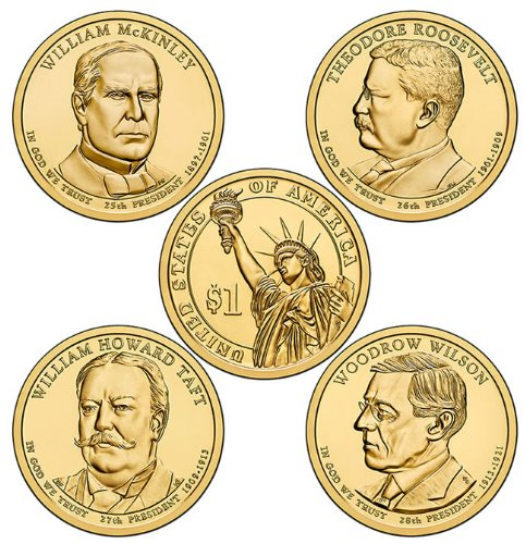 2013 P Presidential Dollar Set (4 Coins) - Dollars Uncirculated Presidential