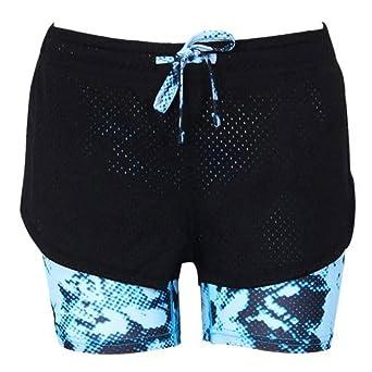 Ba Zha Hei Pantalones Cortos de los Pantalones Cortos de la Yoga de los Deportes de la Cintura del Entrenamiento de la Gimnasia de los Deportes de Las ...