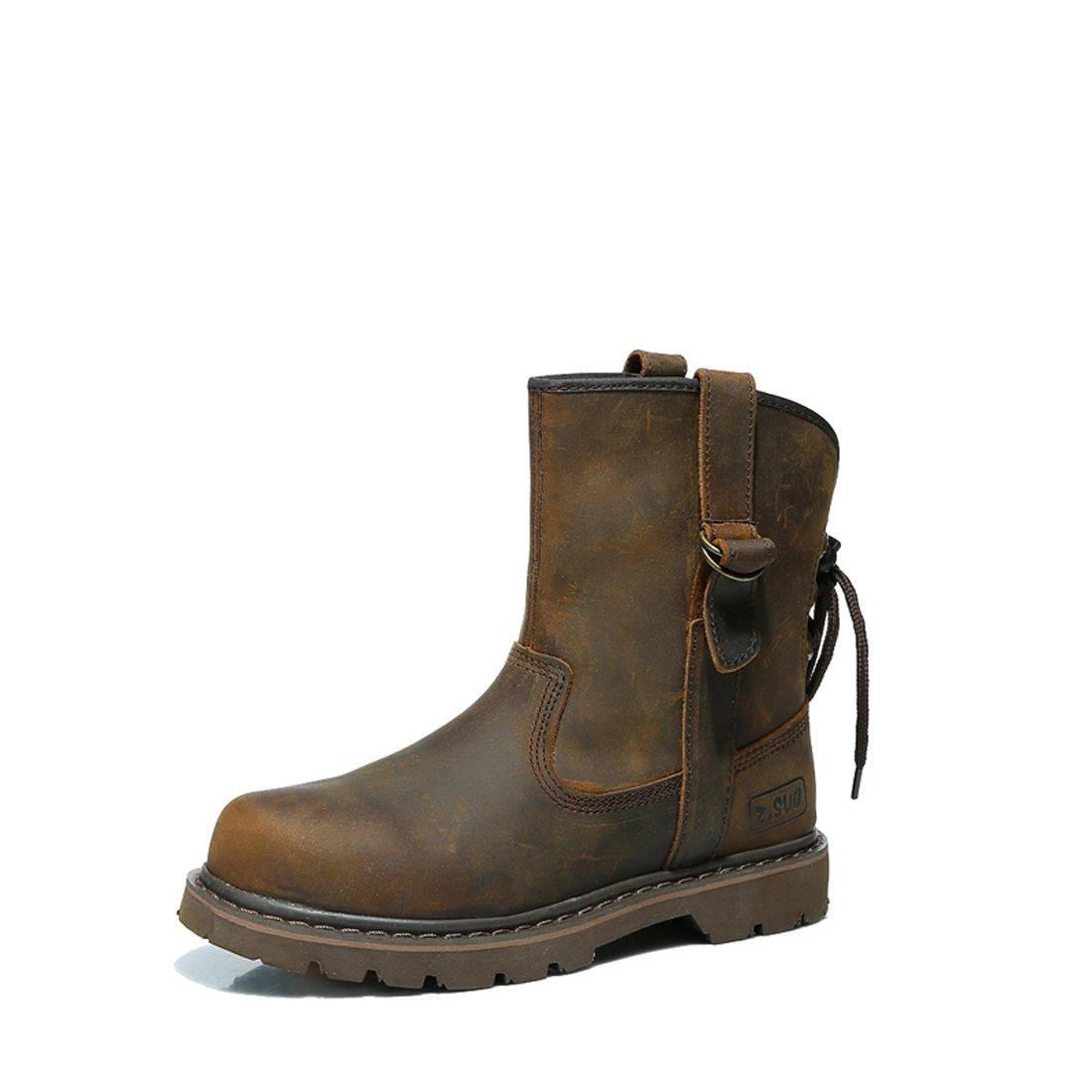 Z.SUO Herren Damen Liebhaber Unisex - Erwachsene Leder Zwei Wear Stiefel Stiefel