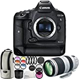 Canon EOS-1D X Mark II DSLR Camera with EF 100-400mm f/4.5-5.6L IS II USM Lens 6PC Accessory Bundle – Includes 3PC Filter Kit (UV + CPL + FLD) + MORE - International Version (No Warranty)
