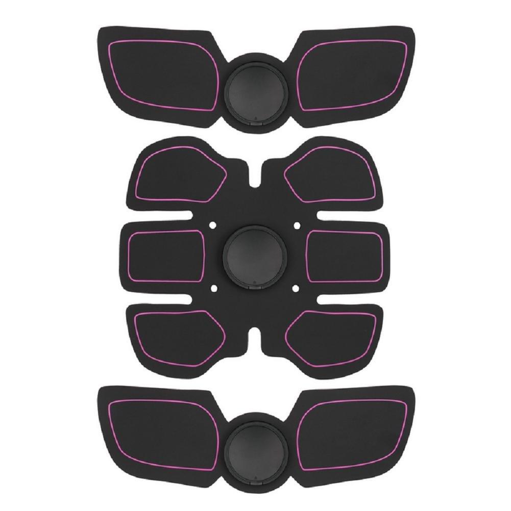 K-DD Elektronische Bauchmuskeln Stimulator Vibrations Pad & Gürtelsystem Drahtlose Abs Muscle EMS Trainingsgeräte Toning für Bauch Home Office Körper Fitness Trainingsgeräte