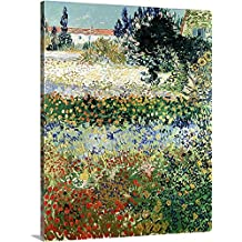 "Vincent Van Gogh Premium Thick-Wrap Canvas Wall Art Print entitled Garden in Bloom, Arles, 1888 24""x30"""