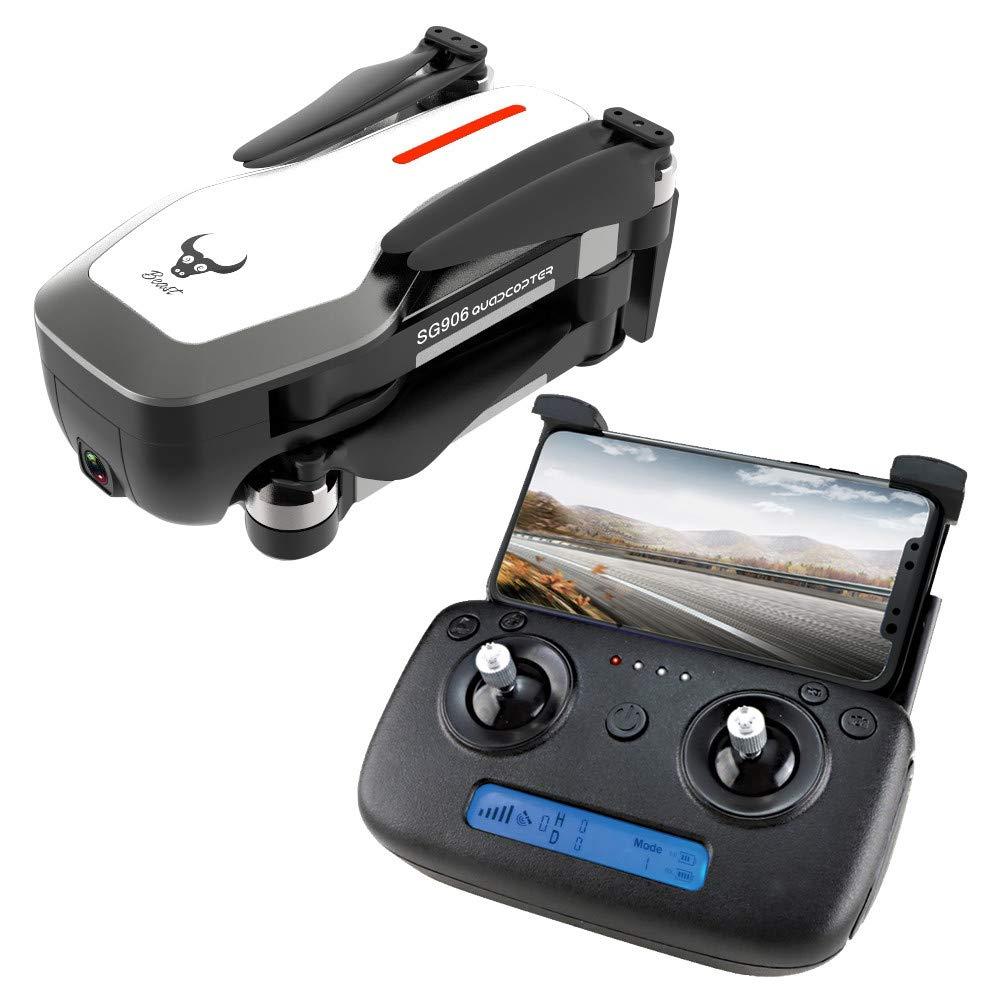 Tensay SG906 RC Drohne GPS 5G WIFI FPV Mit 4K Ultra Clear Kamera Brushless Selfie Faltbare GPS Optische Durchflusspositionierung Schwebeflug Quadcopter RTF mit Batterie Weiß