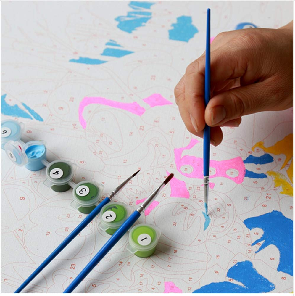 CZYYOU DIY Vintage Hof Malerei Malerei Malerei by Zahlen Kit Färbung Malerei by Zahlen Acrylfarbe Auf Leinwand Für Wohnkultur Wand Kunst, Mit Rahmen, 40x50cm B07Q1YG3Z1 | Fuxin  2ee0a8