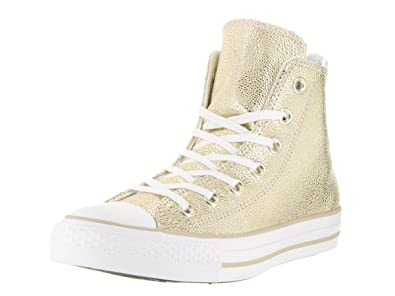 size 40 2b3c9 a0c2a ... reduced converse womens chuck taylor all star stingray metallic hi top  gold black white sneaker 10a33 italy image is loading converse men 039 s ...