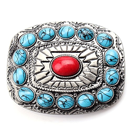 Western belt buckles Mothers day gift ,handmade turquoise belt buckle