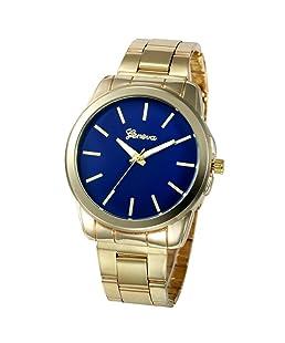 Sviki Watches,Stainless Steel Sport Quartz Hour Wrist Analog Watch (A Blue)