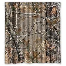 Tanyhouse Custom Camouflage Realtree Waterproof Fabric Bathroom Shower Curtain 66