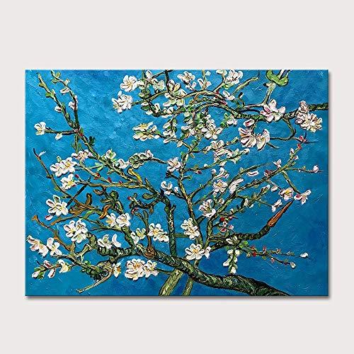 DSGTR Poster Obras de Arte y Pinturas de Artistas Independientes/Flor de Albaricoque Pintada a Mano clasica Pintura al oleo de Van Gogh sobre Lienzo Cuadro Famoso Arte de la Pared/Pintor de Arte
