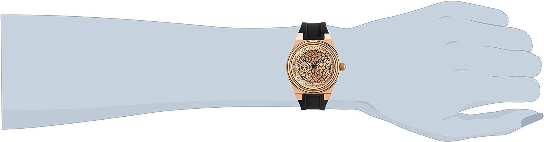 Technomarine Women's Technocell Stainless Steel Quartz Watch with Silicone Strap, Black, 22 (Model: TM-318082)