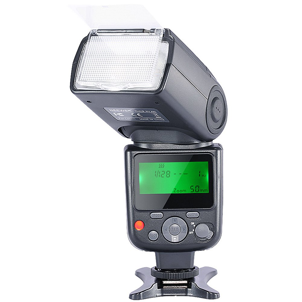 Neewer NW-670 TTL Flash Speedlite with LCD Display for Canon 7D Mark II,5D Mark II III,IV,1300D,1200D,1100D,750D,700D,650D,600D,550D,500D,100D,80D,70D,60D and Other Canon DSLR Cameras