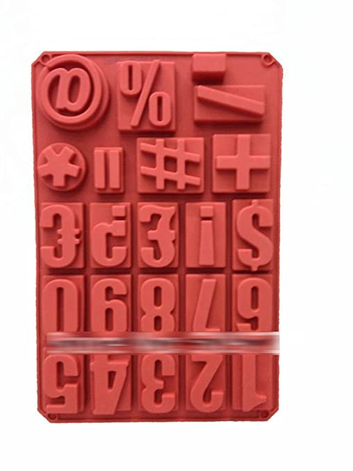 Anyana números y símbolos formas Chocolate molde Candy Jelly hielo ...