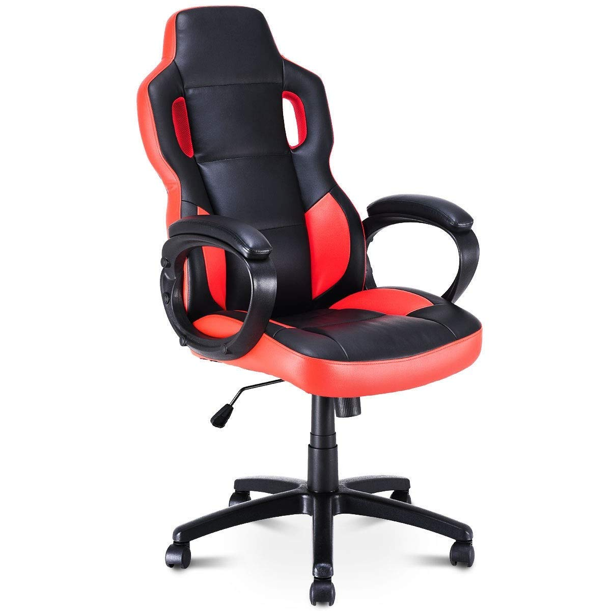 Modern Stylish Gaming Chair Executive Office Chair Racing Style Swivel Computer Chair Furniture Portable Rolling Wheels by USA_Best_Seller