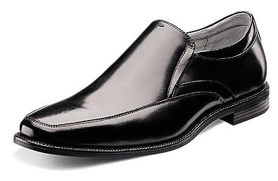 Florsheim Men's Forum Moc Toe Slip-On Black Smooth Loafer 7 D ...