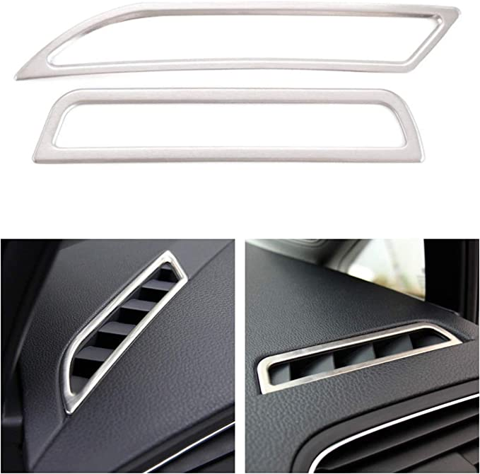 Emblem Trading Edelstahl Luftdüsen Lüftung Rahmen Blende Passend Für Golf 7 Auto