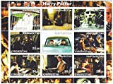 Harry Potter and the Philosopher's Stone and Chamber of Secrets stamp sheet from 2002 with 9 stamps