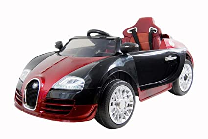 12v Battery Powered Premium Convertible Bugatti Veyron Style Ride On Car  For Kids With Music,