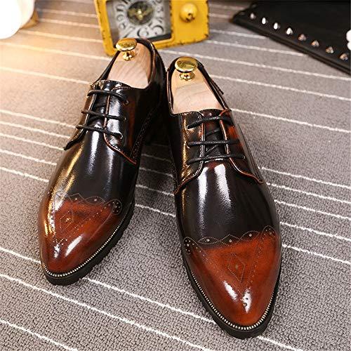 personalit Business Uomo Casual da Moda Oxford xqX7xZ