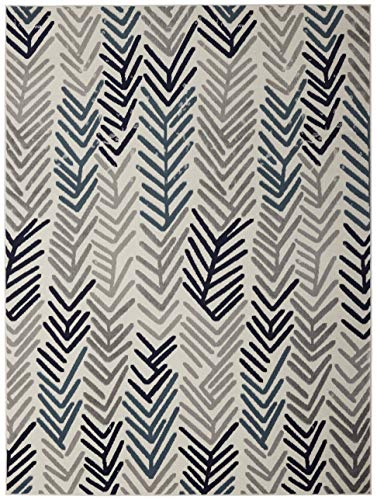 Diagona Designs Contemporary Floral Design Modern 5' X 7' Ar