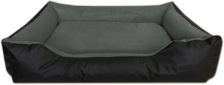 BedDog® LUPI colchón para Perro S hasta XXXL, 24 Colores, Cama para Perro, sofá para Perro, Cesta para Perro, XXL Negro/Gris