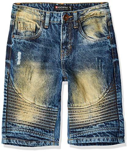 Southpole Kids Jeans - Southpole - Kids Boys' Big Denim Biker Shorts, Dark Vintage, 12