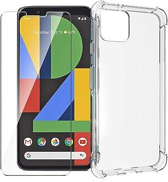 HYMY Funda para Google Pixel 4 XL Smartphone + 2 x Cristal ...