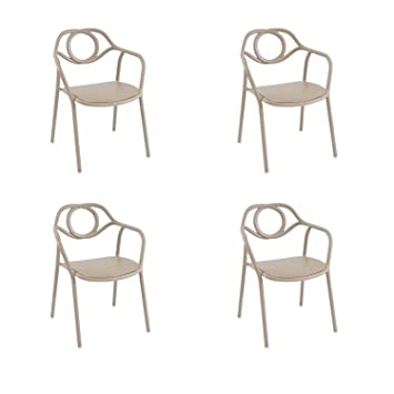 EMU Oferta 4 sillones Silla Zahir Pardo de Interior y ...