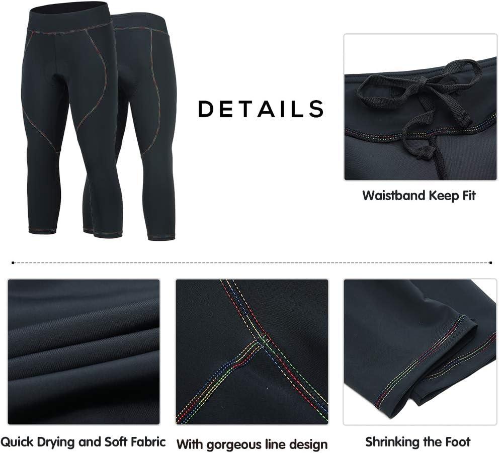 BEROY Pantalons Cyclisme Femme Longues Pantalons V/élo Respirant Legging de Sport Elastique 3D Gel Rembourr/é