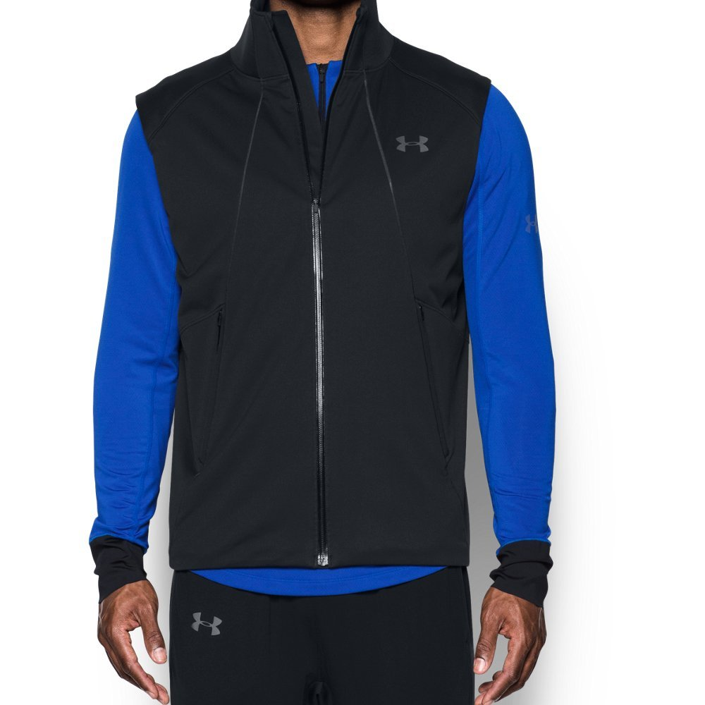 Under Armour Men's Storm ColdGear Reactor Run Vest,Black (001)/Reflective, Small by Under Armour (Image #1)