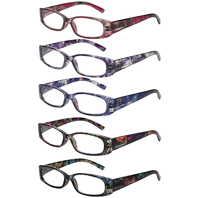 447ee7f7986 Fashion Ladies Reading Glasses Spring Hinge Pattern Design Glasses of  Reading 5 Pairs (5 Color