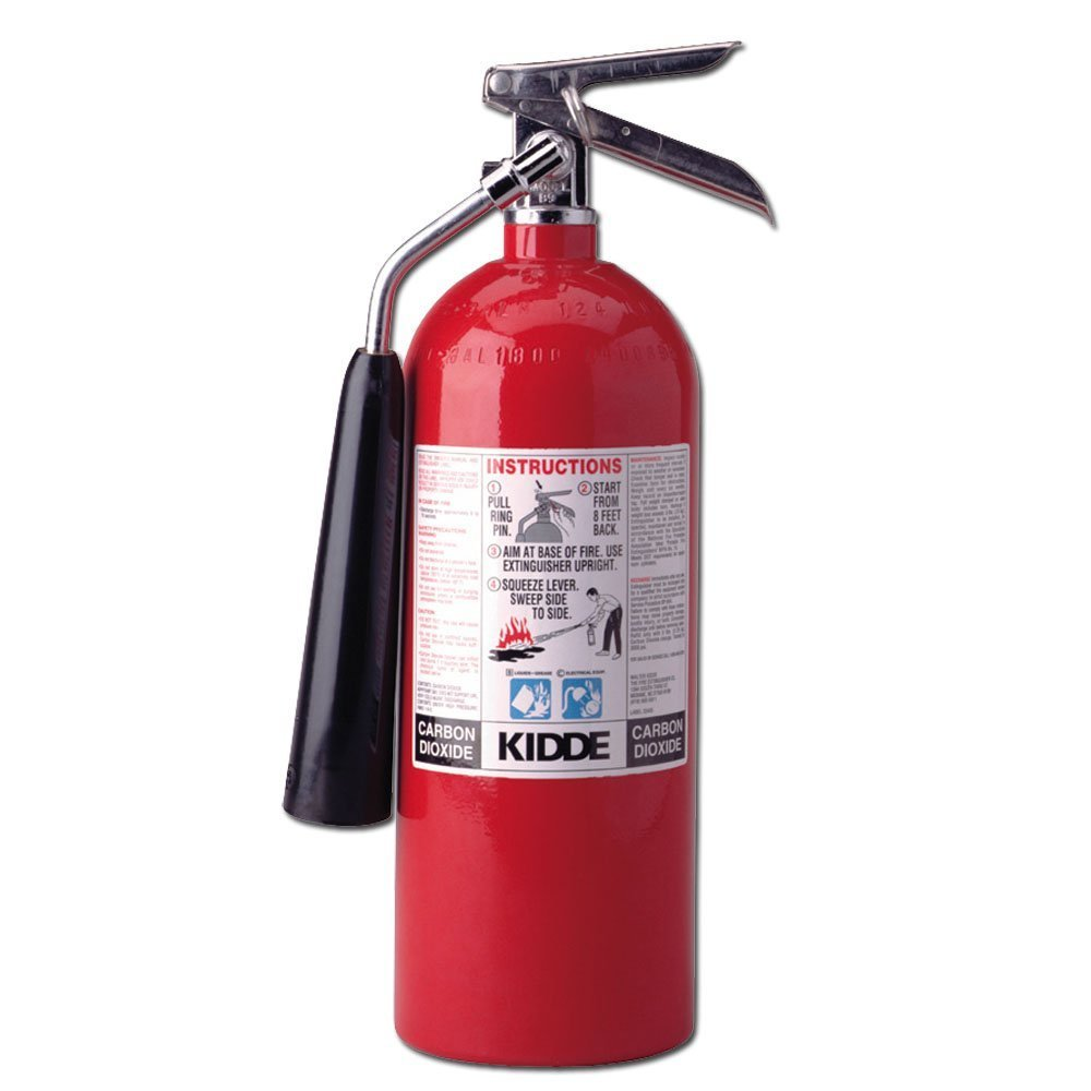 Kidde 466180 Pro 5 Carbon Dioxide, Food and Electronic Safe, Environmentally Safe, Fire Extinguisher, UL Rated 5-B:C by Kidde
