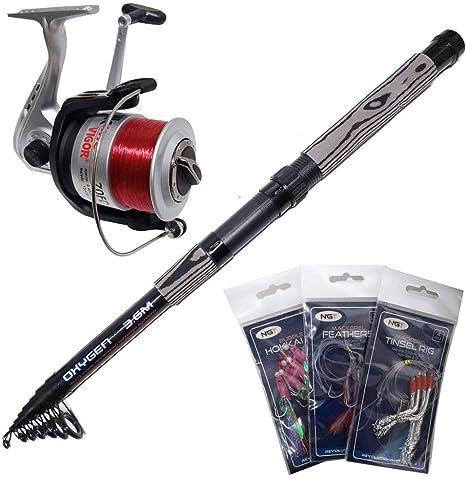 Lineaeffe - Kit de iniciación en Pesca Spinning (Incluye caña de ...