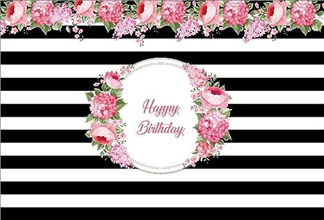 Amazon Com Aofoto 10x7ft Happy Birthday Background Black And White