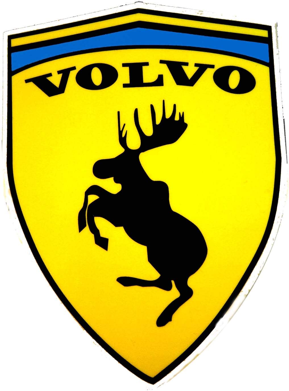 Folien1x1 2 Stk Volvo Ferrari Elch Sticker Fun Aufkleber Ca 10 6 Cm X 7 7 Cm Auto
