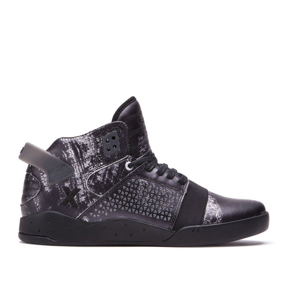 Supra Mens Skytop III Reflection Shoes 10 M US|Reflections Black Clear