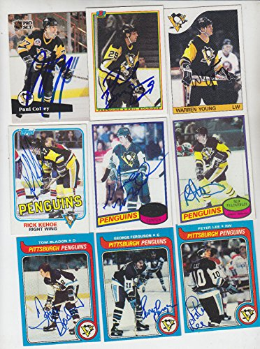 1979-80 TOPPS SIGNED CARD PETER LEE PITTSBURGH PENGUINS ENGLAND UK GERMANY # 45