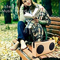 Bluetooth Speaker OCDAY Portable Wireless Wooden Retro Speakers Rechargeable Outdoor Loudspeaker with Stereo and Subwoofer