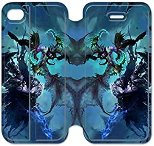 4 4s Cover,[Pu Leather Cover] Illidan Stormrage Theme New iPhone 4 4s Case Cover KS1172