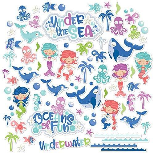 Paper Die Cuts - Oceans of Fun - Over 60 Cardstock Scrapbook Die Cuts - by Miss Kate Cuttables