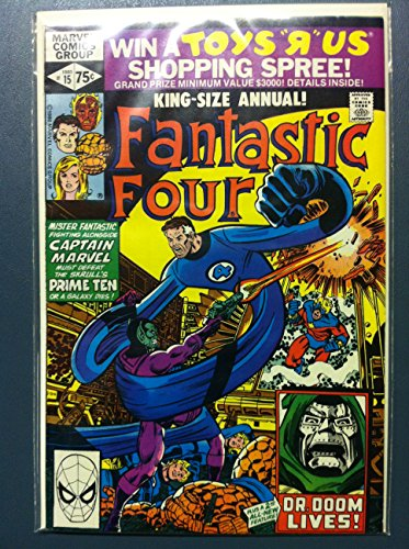 Fantastic Four #15 Annual - #15 Time for the Prime Ten ft: Skrulls Oct 80 Fine to Very Fine (7 out of 10) Very Lightly Used by Mickeys Pubs