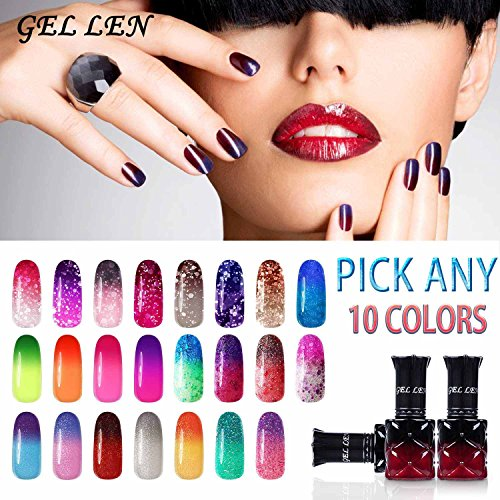 Gellen Pick Any 10 Colors Temperature Color Changing Gel Nai